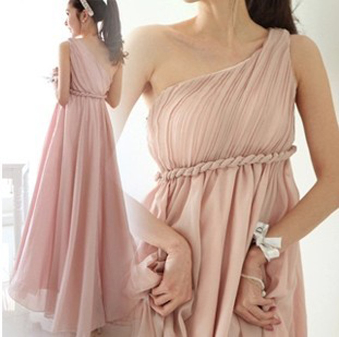2020 New Nude Pink/Purple Bridesmaid Dresses Pleated Floor Length Country Beach Wedding Guest Party Gowns Cheap Long Prom Dress