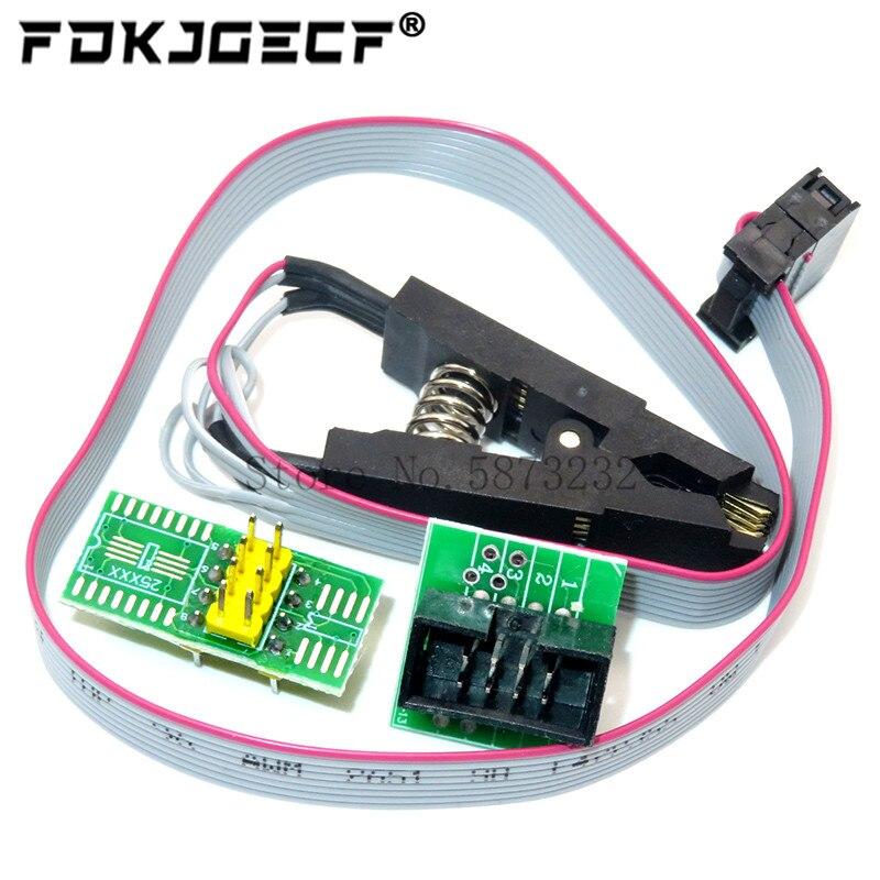 Обновленная версия SOIC8 SOP8 тестовый зажим для EEPROM 93CXX / 25CXX / 24CXX программирование в цепи + 2 адаптера|Интегральные схемы|   | АлиЭкспресс
