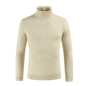 Image 2 - Male Sweater Mens Winter Pullover Turtle Neck  Jumper White Mens Knitwear Pull Homme Turtleneck Sweater Christmas Cotton black