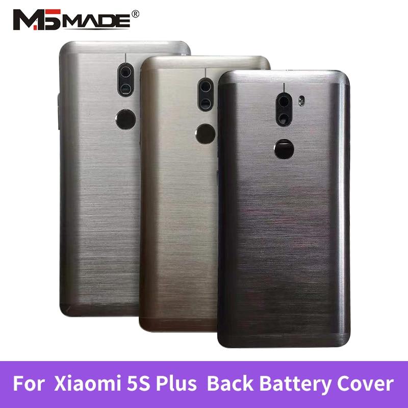 Original For XIAOMI MI 5S PLUS Back Glass Battery Cover With Fingerprint Rear Door Housing Case Window+Camera Lens Mobile Phone Housings & Frames     - title=