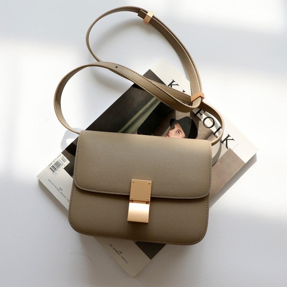 Genuine Leather Crossbody Bags for Women High Quality Ladies Shoulder Bag Luxury Designer Fashion Handbag 18 Colors Bolsos Mujer