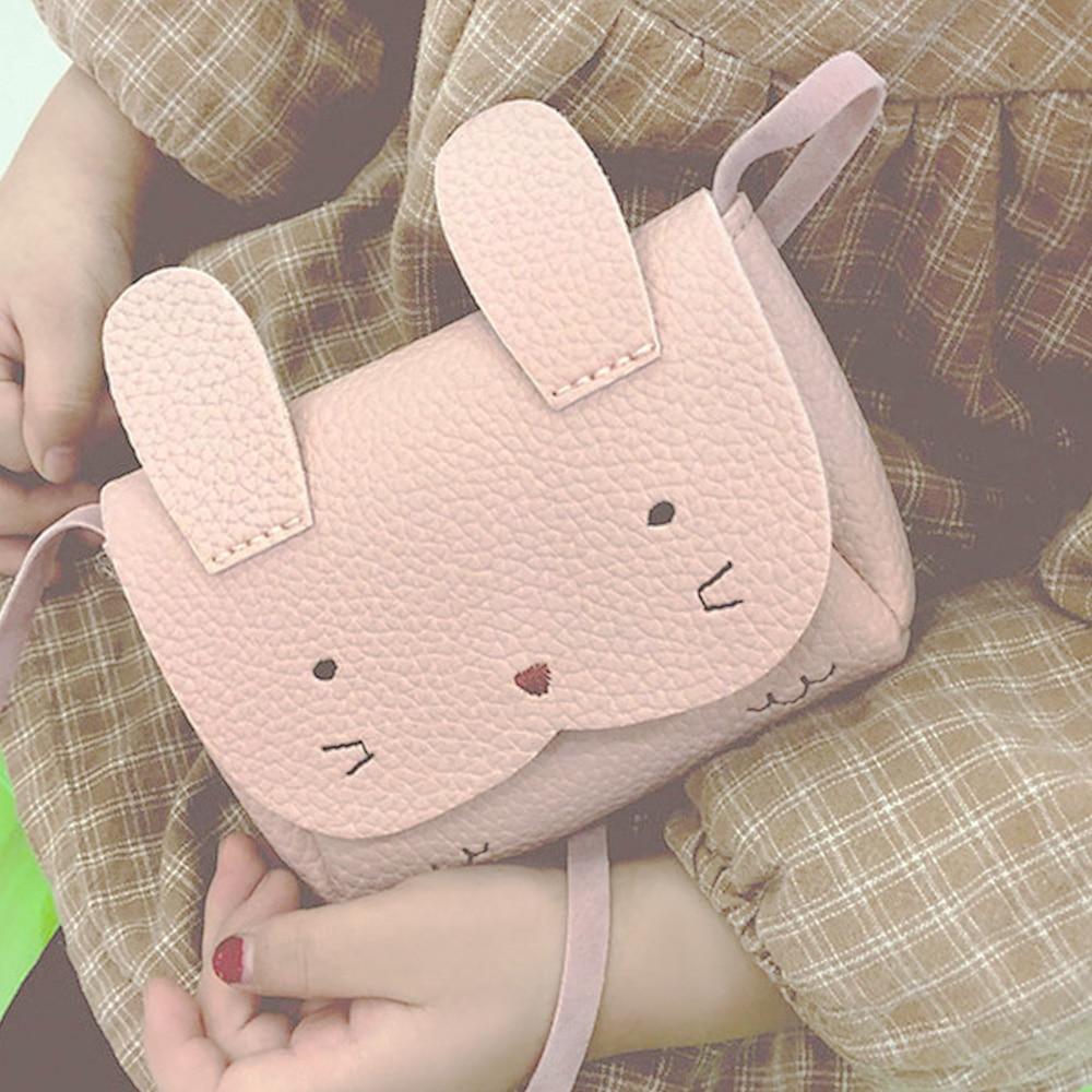 Plush Backpacks Children Small Messenger Bag PU Mini Cute Girl Kids Shoulder Handbag Crossbody Purse Money baby rabbit Bags 2019 in Plush Backpacks from Toys Hobbies