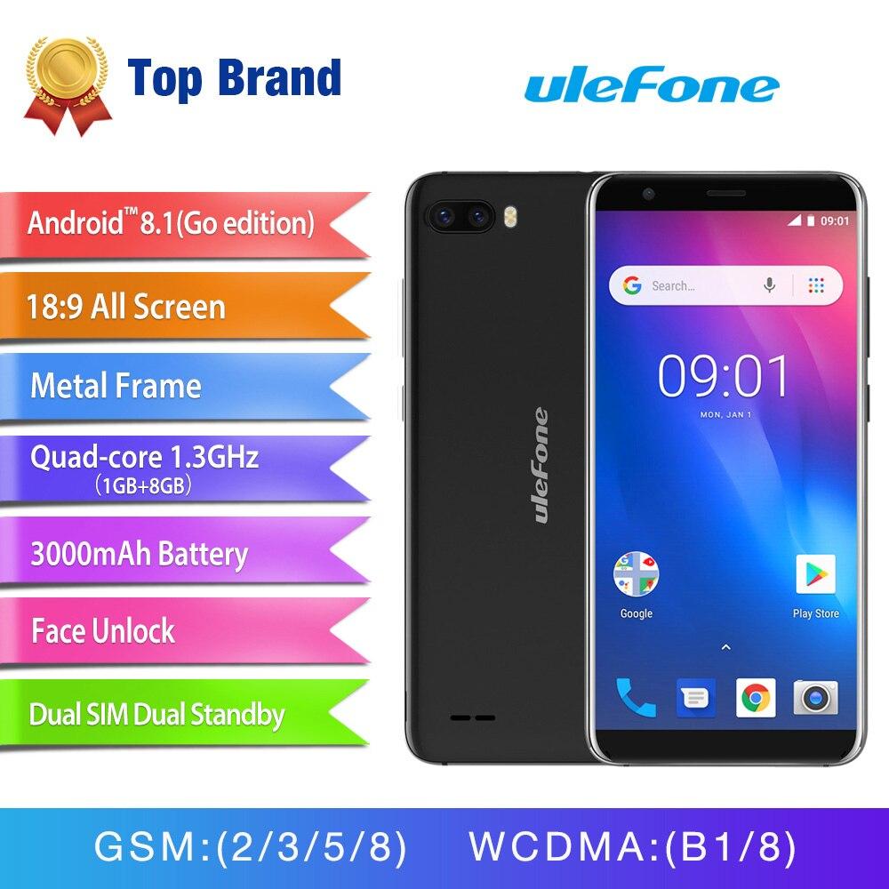 Ulefone S1 Мобильный телефон Android 8,1 5,5 дюймов 18:9 MTK6580 четырехъядерный 1 ГБ ОЗУ 8 Гб ПЗУ 8МП + 5Мп задняя двойная камера 3g смартфон - 5