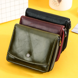 Image 5 - Small Women Wallet Female Purse Genuine Leather Wallets Red Rfid Coin Purse Mini Card Holder Money Bag Clutch Carteira Feminina