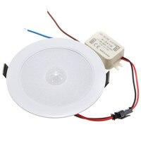 5W PIR Motion Sensor led typu downlight kinkiet lampa na ścieżkę sufitowa podświetlenie schodka 5730 SMD 10 oświetlenie AC85 265V wsparcie Dropshipping w Oświetlenie wbudowane od Lampy i oświetlenie na
