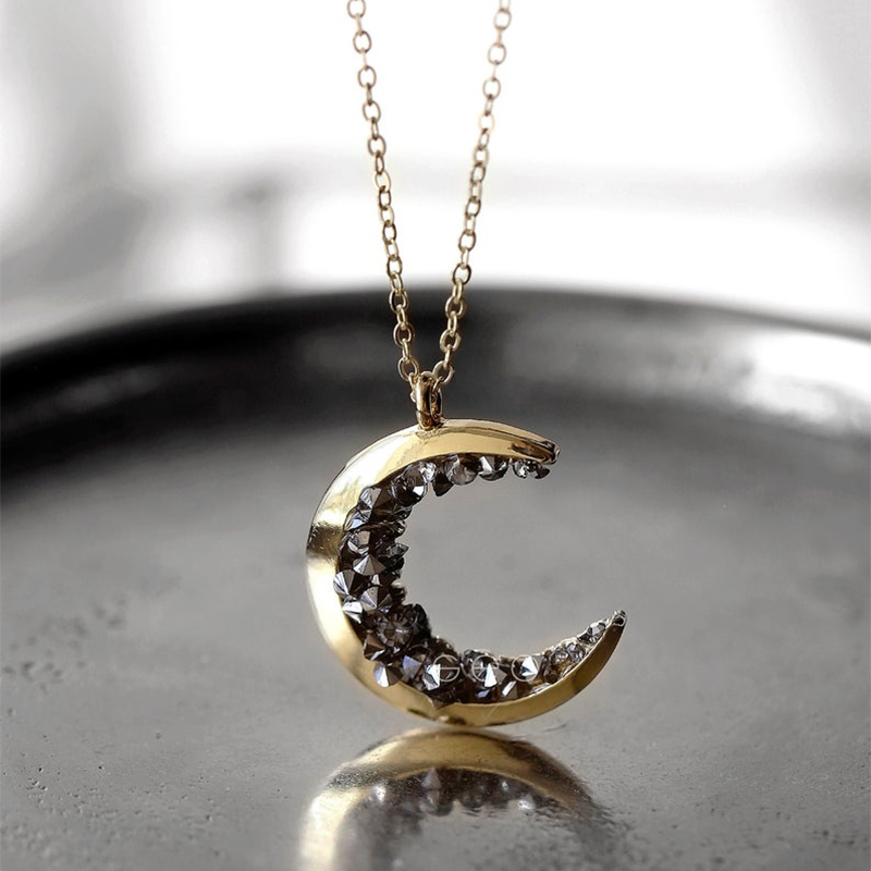 Chain Necklace Women Fashion Jewelry Gold Moon Long Pendant Statement Choker Necklace Gifts for Women Colar Feminino Riverdale