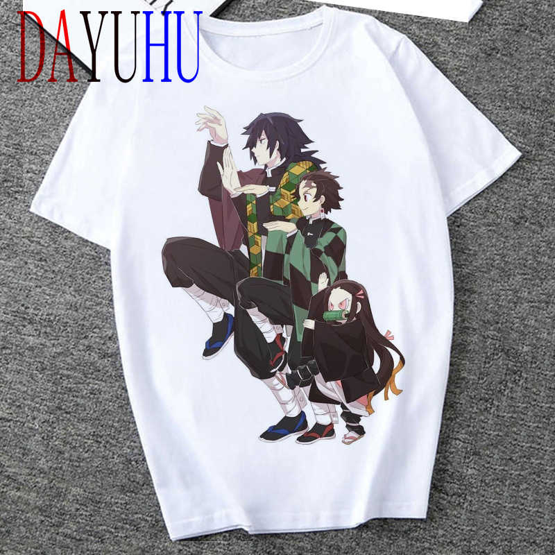 2020 Unisex Demon Slayer T-shirt Grafische Tees Mannen Streetwear Japanse Anime Cool Tshirt Grappige Cartoon Kimetsu Geen Yaiba T-shirt