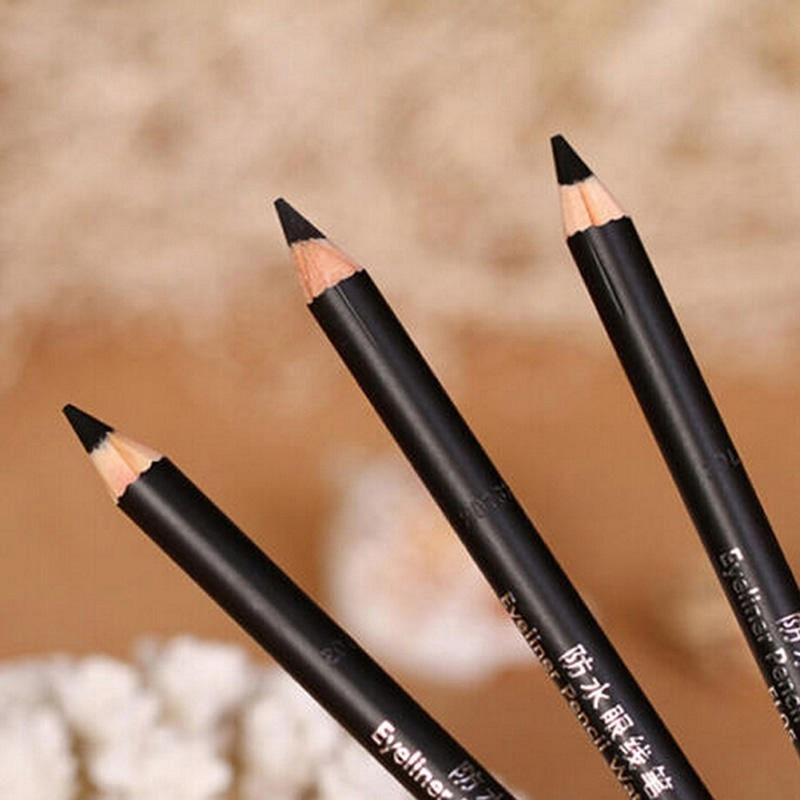 2Pcs Black Smooth Waterproof EyeLiner Eyebrow Pencil Long Lasting Eye Brow Tattoo Dye Tint Pen Cosmetics Eye Makeup Beauty Tool