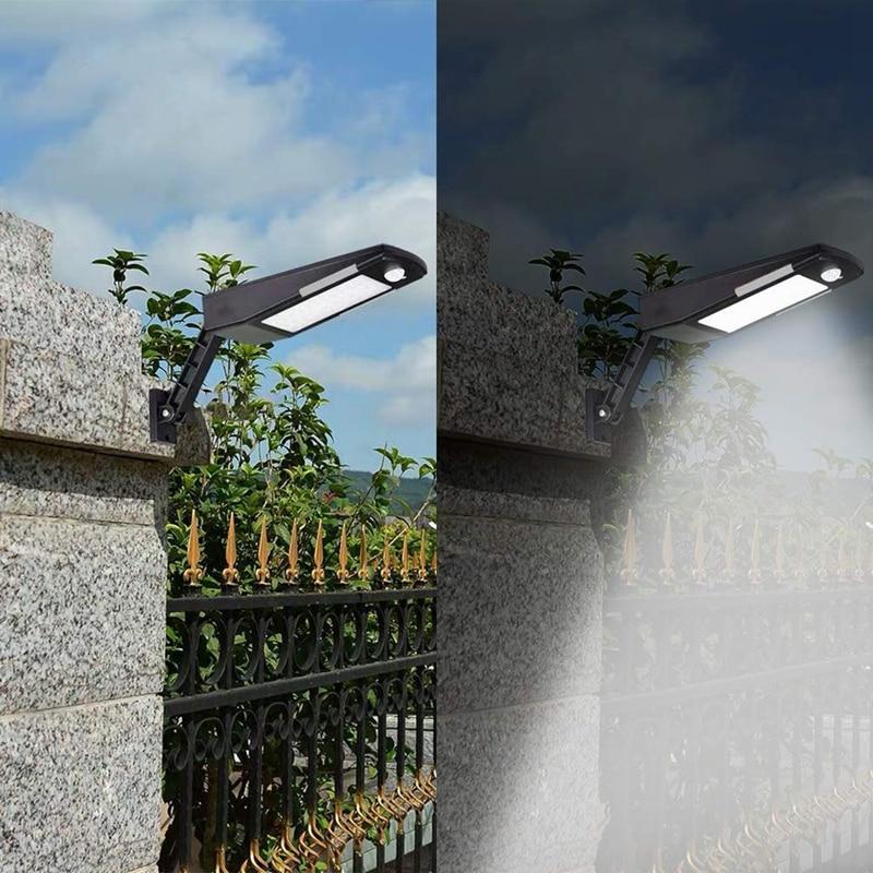 Solar Motion Sensor Lights, 48LED Outdoor Solar Flood Lights, 360 Degree Angle Adjustable Waterproof Wireless Security Lights fo