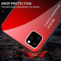 silicone case 11 Pro Max 6 7 8 Plus X XS XR Luxury Phone Case For iPhone Gradient Tempered Glass Protective Case Hard Back Soft Silicone Cover (3)