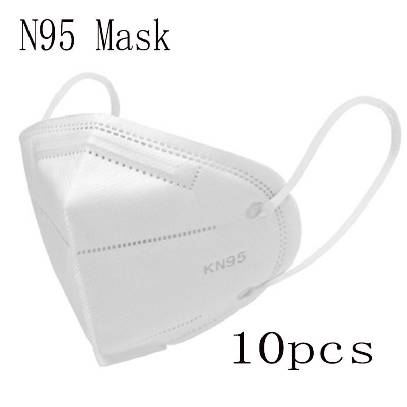 10/50pcs KN95 Face Mask N95 FFP3 Mouth Mask Anti Smog Strong Protective Than FFP2 KF94 CE Certification Dustproof Anti-fog Mask