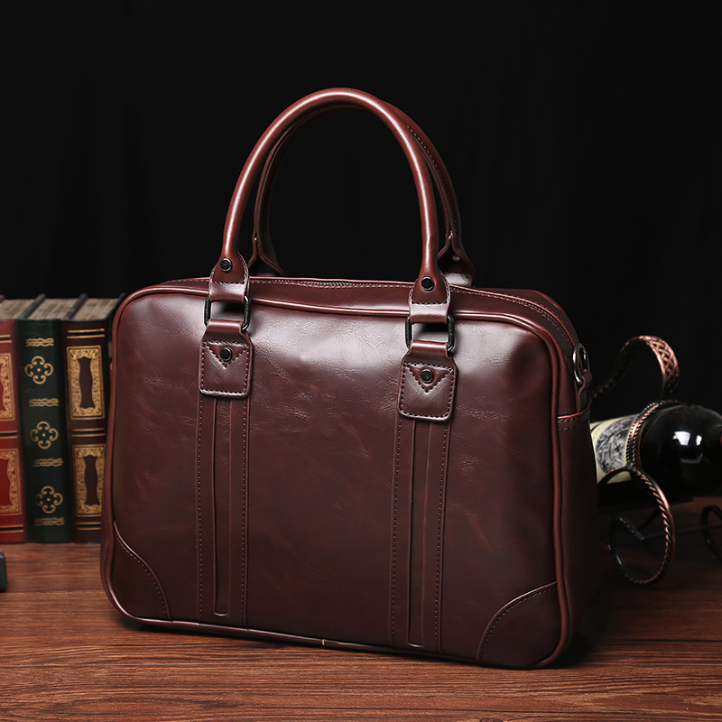 Fashion Men Briefcases Bags Male Business Laptops Bags Black PU Leather Messenger Bag For Man Briefcase Handbag Bolso Hombre