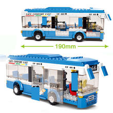 235 шт Детский конструктор «городской автобус»