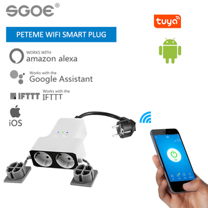 tuya smart plug outdoor wifi Waterproof Smart Plug smart socket time setting remote outlet Compatible with Alexa Google Home IFT(China)