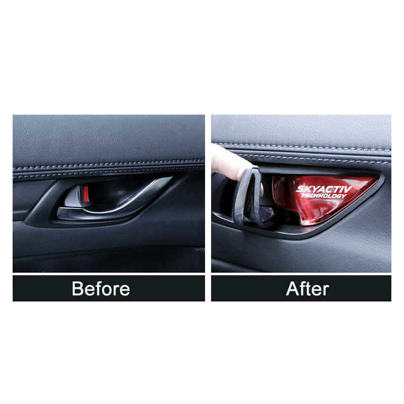 Mobil Interior Door Handle Bowl Hiasan Penutup Stiker untuk Mazda 2 3 6 Demio CX3 CX-5 CX5 CX 5 CX7 CX9 MX5 Axela Atenza 2017 2018 2019