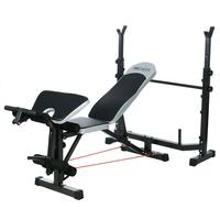 ANCHEER Fitness Equipment Weight Bench Press Bench Squat Rack Dumbbells Body Arms Workout Indoor Exercise Gym Equipment