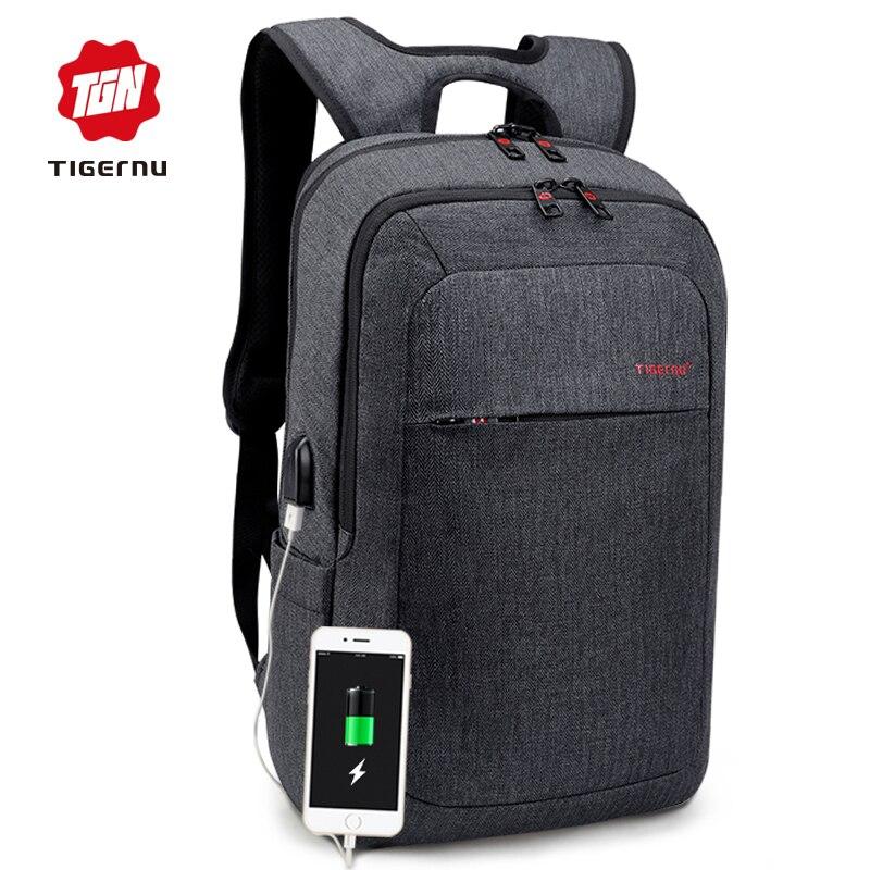 Tigernu Male Backpack Bag Brand 15.6 Inch Laptop Notebook Mochila For Men Splashproof Back Pack Bag School Backpack Women