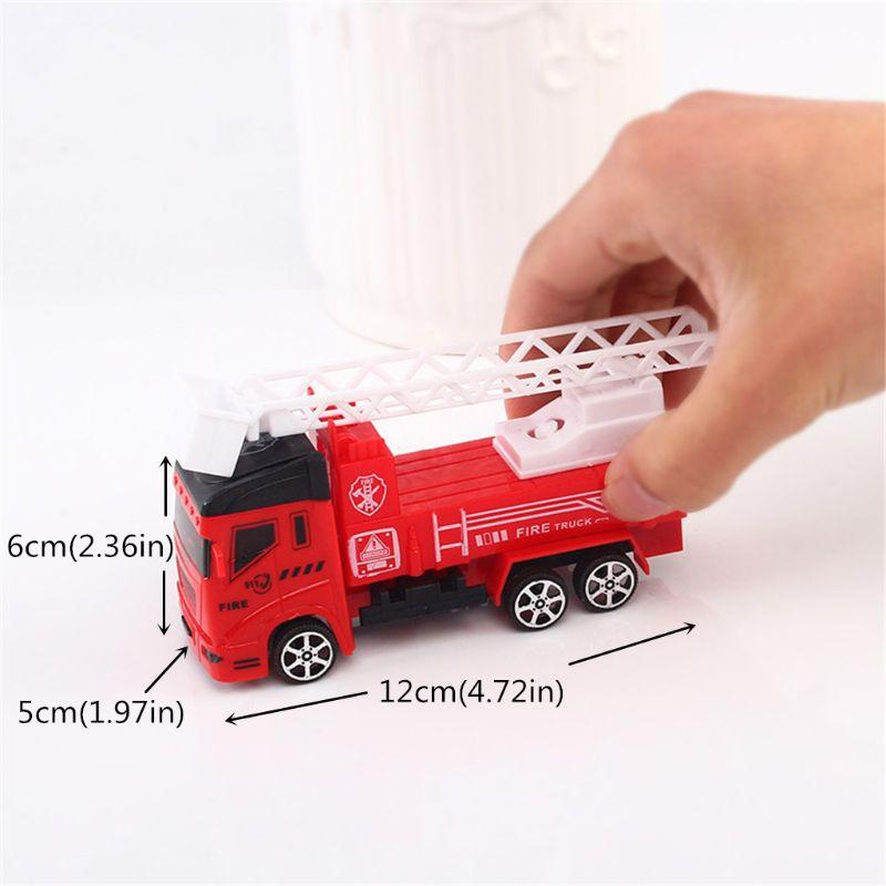 Camion de pompier pompier véhicule voiture tirer arrière jouet voiture modèle jouets éducatifs garçon enfants jouet 634F