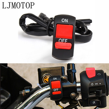Universal Motorcycle Switches Handlebar Flameout Switch ON OFF Button For Suzuki GSXR750 GSXS750 TL1000S B-KING 600 750 KATANA image