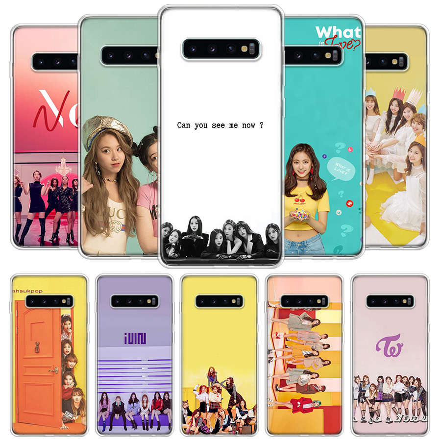 Twice Knock <font><b>Kpop</b></font> Cover Phone Case For <font><b>Samsung</b></font> Galaxy S20 Ultra S10 Lite Note 10 9 8 S9 S8 J4 <font><b>J6</b></font> J8 <font><b>Plus</b></font> + S7 Edge <font><b>Coque</b></font> image