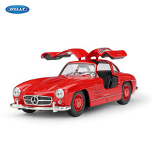 WELLY 1:24  Mercedes 300SL simulation alloy car model crafts decoration collection toy tools gift
