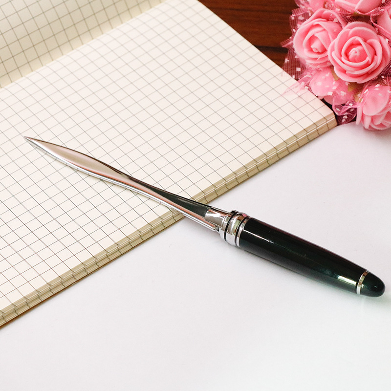 1PC Useful Black Office School Letter Opener Cut Paper Tool Letter Supplies Cutter Tool Business Cut Paper Utility Knife Supply 1