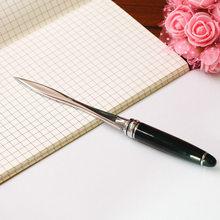 1PC przydatne czarne biuro szkoła nożyk do listów cięcia papieru narzędzie list dostarcza wycinarka biznes cięcia papieru nóż introligatorski dostaw
