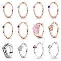 Новый 2021 100% 925 стерлингового серебра ко Дню Святого Валентина ограниченное Избранное кольцо подходит для европейских женщин роскошные ориг...