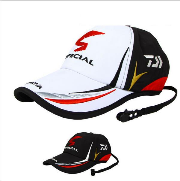 2019 New Brand Daiwa Adjustable Outdoor Sport Fishing Sunshade Sport Baseball Fishermen Hat Special Bucket Hat With Letter Cap