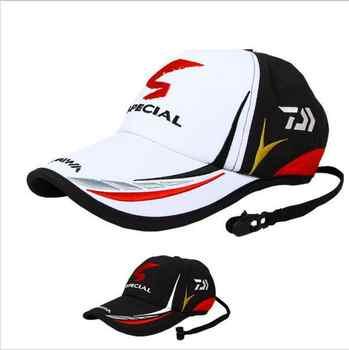 2019 nouvelle marque Daiwa réglable en plein air Sport pêche parasol Sport Baseball pêcheurs chapeau spécial seau chapeau avec chapeau de lettre