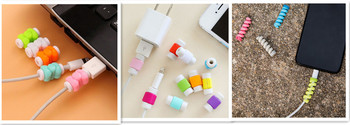 Charging Cable Saver Cover for iPhone USB Charger Wire Cable Protector Cover Earphone Line Data Cable Protection Sleeve