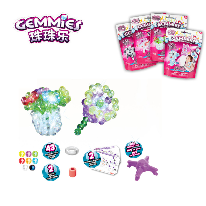 Gemmies Beads Music Children Creative Hand-made GIRL'S Beaded Bracelet Theme Pack Animal Pet Flower Insect