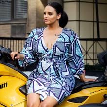 Artı boyutu kadınlar 2020 kış Midi elbise V boyun tam kollu Sashes diz boyu gevşek elbise seksi moda gece kulübü elbiseler GL9640