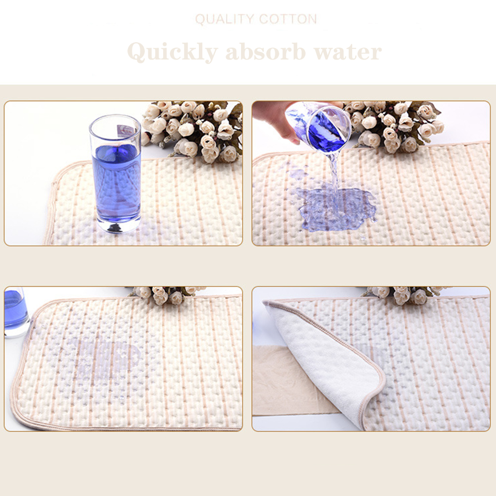 Baby Changing Pad Infant Cotton Portable Cover Toddlers Waterproof Urine Mat US