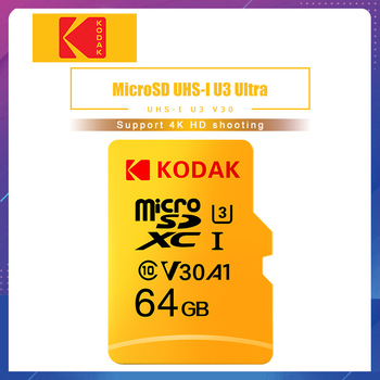 Kodak High Speed Memory Card 256GB 128GB 64GB U3 32GB Micro sd card Class10 UHS-1 flash card Memory TF / Micro SD card