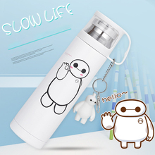 Big White Thermos Bottle 500ml Stainless Steel For Kids Child Vacuum Thermo Mug My Termos Totoro Bottles
