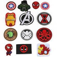 Marvel homem de ferro spiderman hulk capitão américa remendos anime dos desenhos animados roupas remendos vestuário adesivos bordado pano adesivos