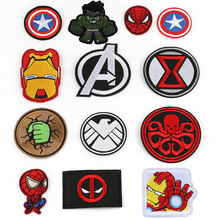 Marvel Iron man spiderman hulk captain America patches anime cartoon clothes patches Garment stickers embroidery cloth stickers