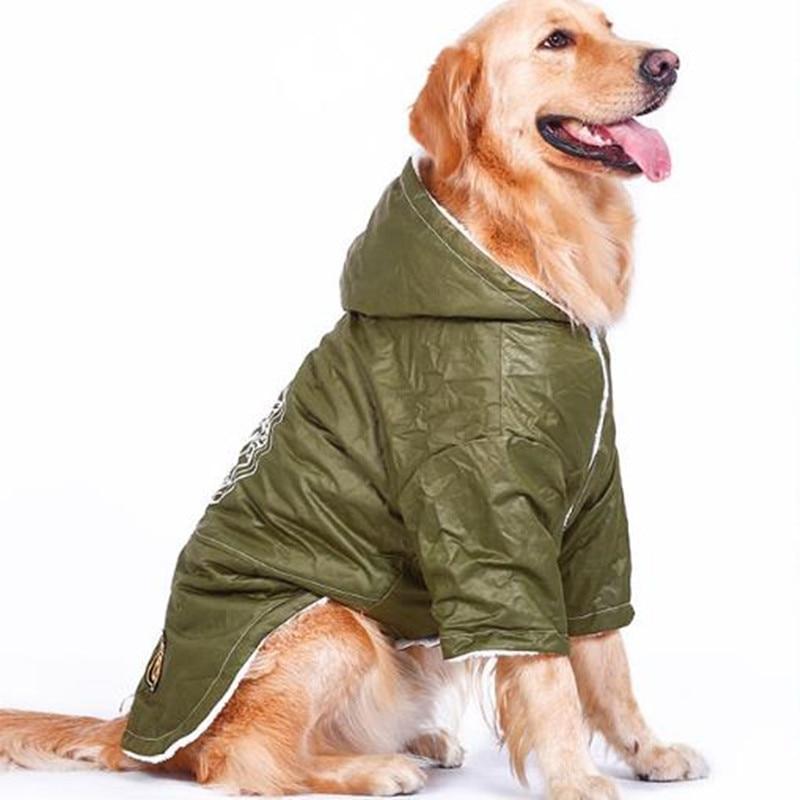Für Retriever Winter Hund Us15 Warme Golden Jacke Grün Haustier Mantel Große In armee 48 5Off Windjacke Padded Kleidung LqzMUSGjVp