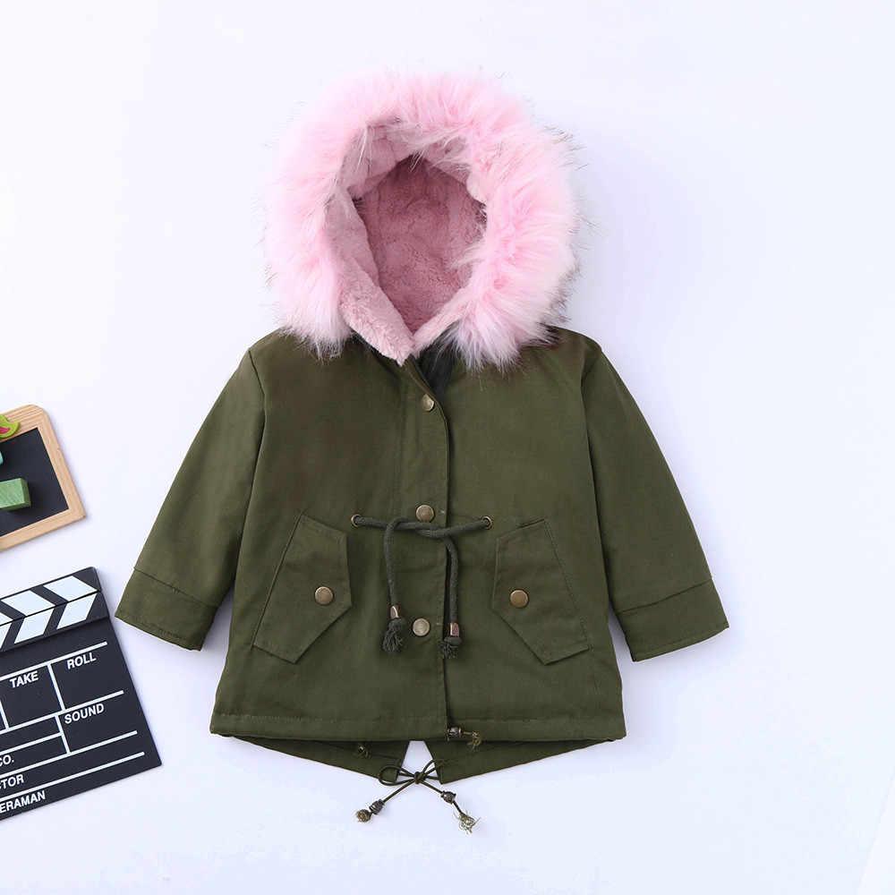 子供厚い綿のフード付きジャケット暖かい着用ファッション冬の幼児コート秋冬子供服子供服