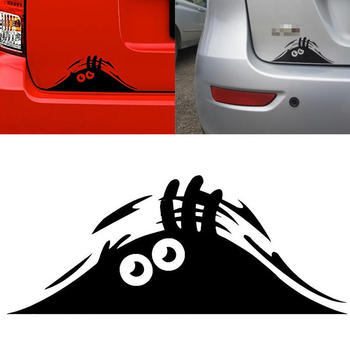 Car Stickers Funny Peeking Monster For BMW E90 F30 F10 Audi A3 A6 C5 C6 Opel Insignia Alfa Romeo Ssangyong Accessories image