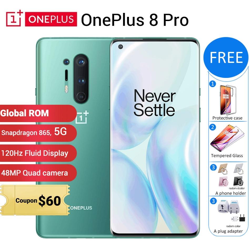 Globalny ROM Oneplus 8 pro 5G telefon komórkowy 12GB 256GB /8GB 128GB 6.78