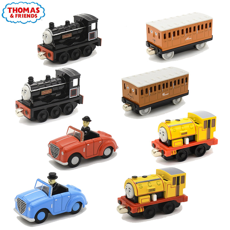 Genunie 1:43 Thomas and Friends Trackmaster Metal Diecasts Magnetic Train Model Drop-resistant High Quality Car Toys Kids Gift