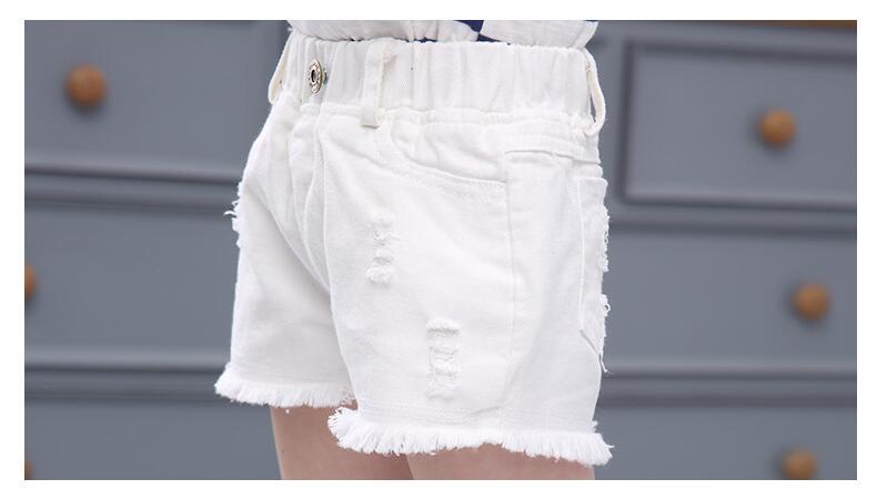 shorts crianças grandes meninas denim shorts meninas algodão curto jeans