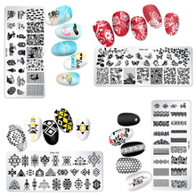 1Pc12*6cm Rectangle Nail Art Stamping Plates Template Design PlateCute Animal Birdie Manicure Nail Stamp Templates Plates Image