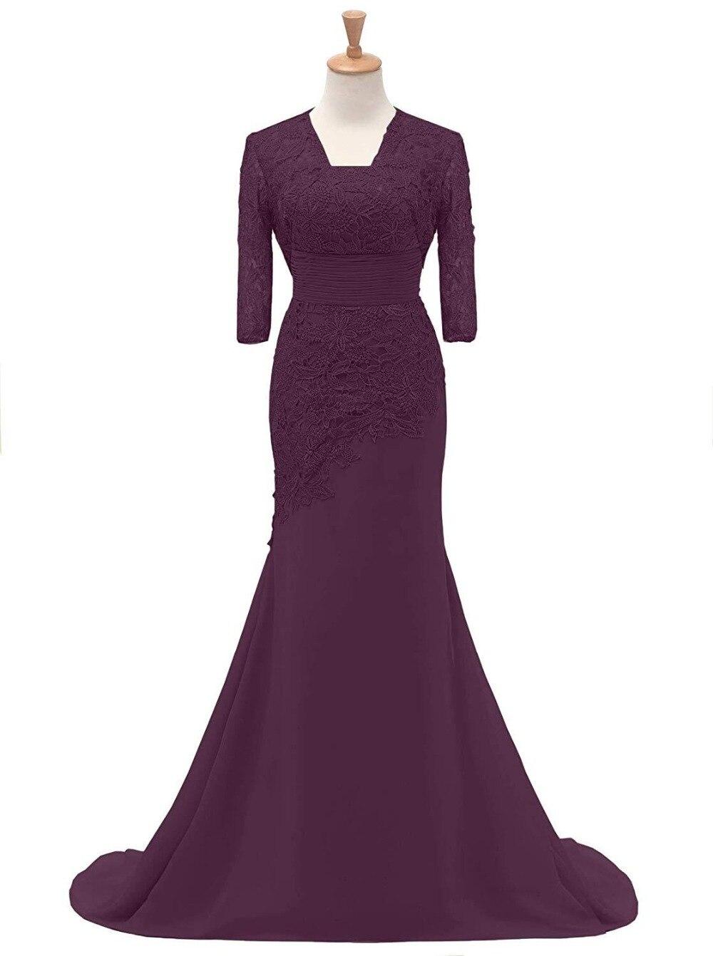 Vestido Novia Madrinha New Elegant 2 Piece Chiffon Lace Floor Length Evening Gown 2018 Mother Of The Bride Dresses With Jacket