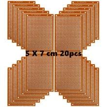 Placas de pwb compósitos de papel de cobre do perfboard 20 pces (5 cm x 7 cm) placa de pão universal única face placa de circuito impresso