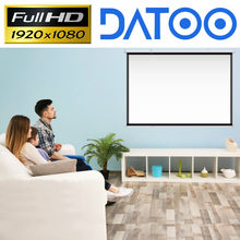 Tela completa do projetor de datoo 4k hd 1080p para dispositivos espertos/android do windows linux do pc
