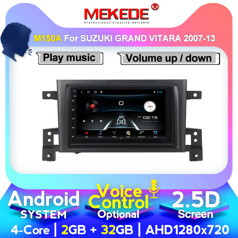 MEKEDE M400 7inch Android 10 4G+64G Car DVD For Suzuki Grand Vitara 2007-2013 Stereo Navigation GPS Voice Control IPS Screen