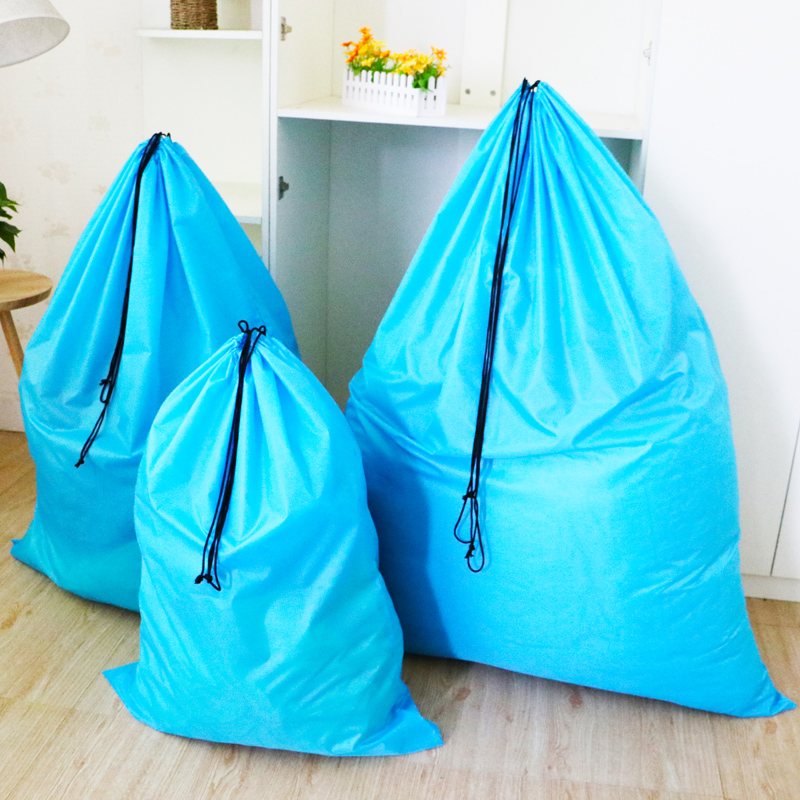 Extra Large Cotton Quilt Large Storage Bag Plush Toy Clothes Goods Sorting Bag Dust Beam Drawstring Bag
